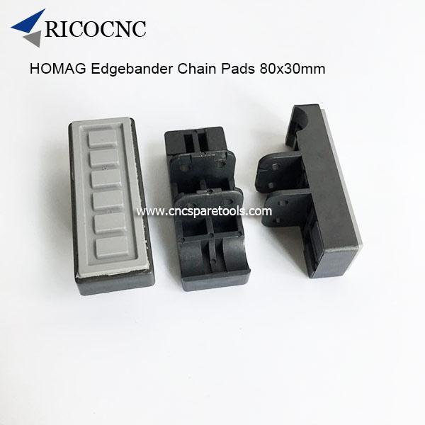 80x30mm Edgebander Track Pads Converyor Chain Pads for HOMAG Edge Banding Machine