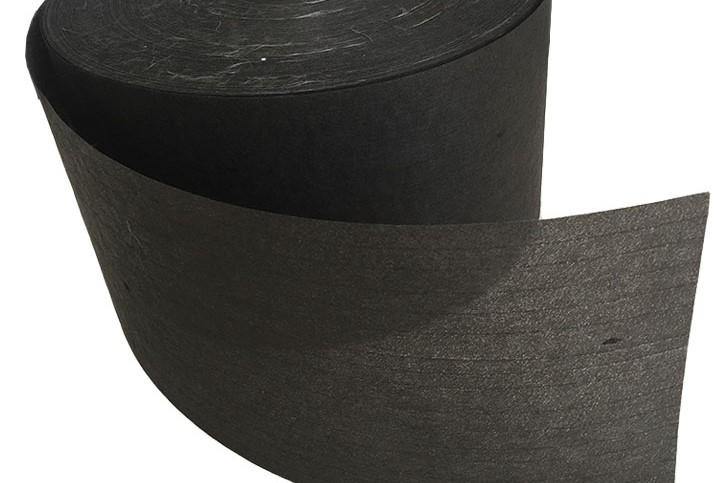 Black glass fiber tissue