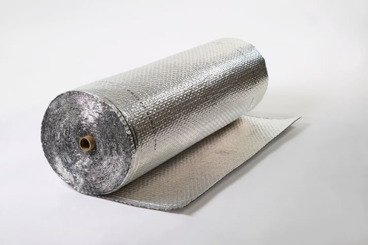 Aluminum foil glass fiber fabric