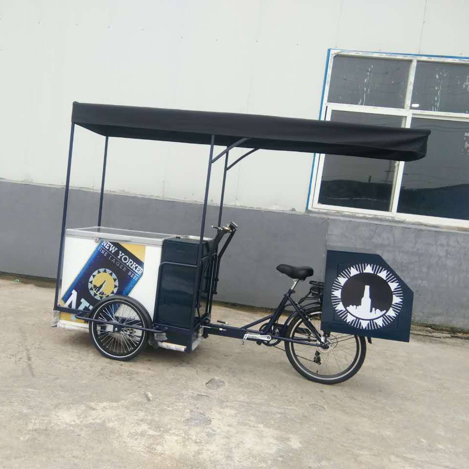 SLS-0009 ice cream moped bike solar ice cream bike
