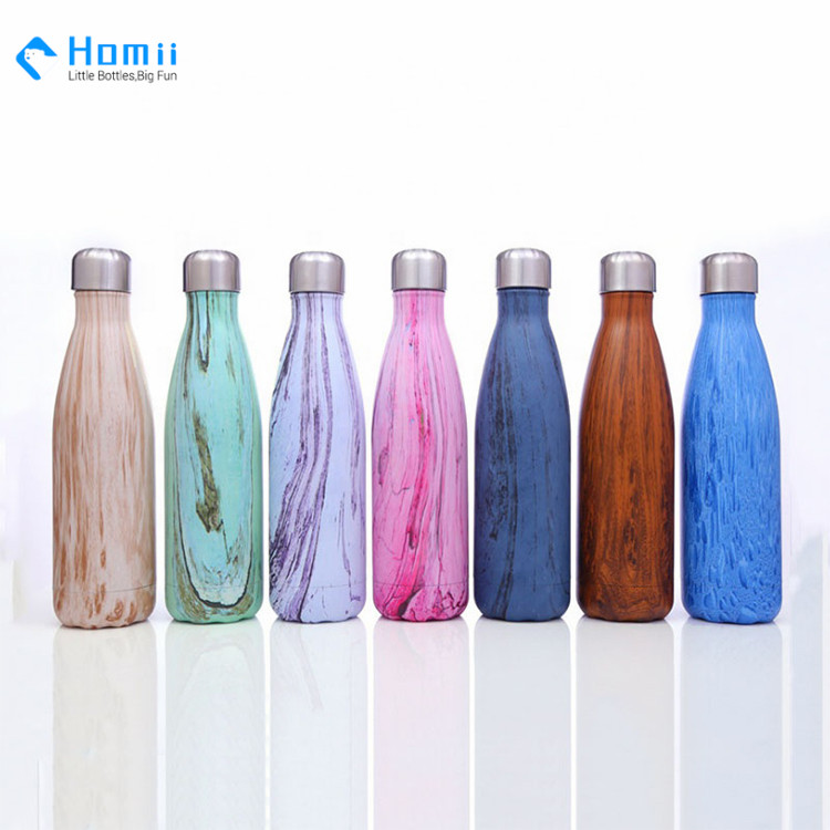Hangzhou Homii industry 350ml/500ml/750ml Stainless Steel Double Wall Thermos Water Bottle Thermos bottles Cola Style