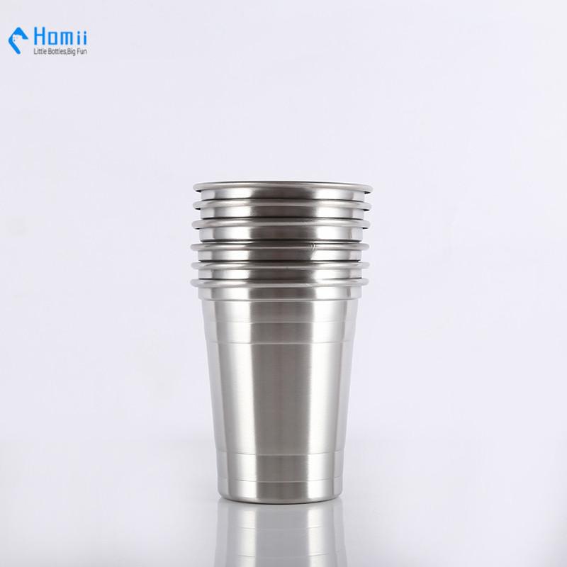 Hangzhou homii Industry 16oz stainless steel single wall beer mugs cold mugs