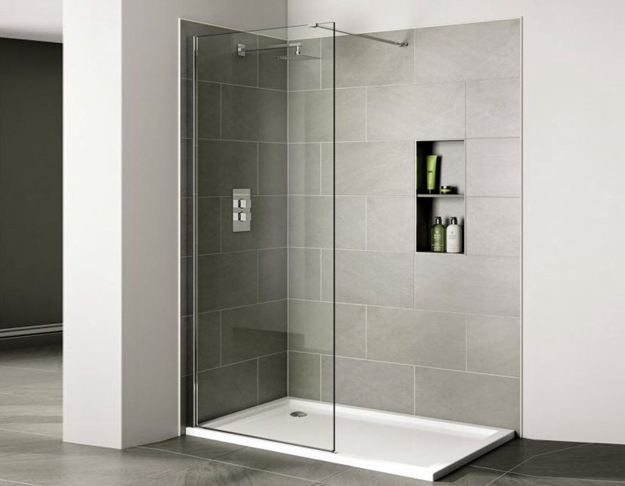 Frameless Wetroom Shower Panel, AB 4135