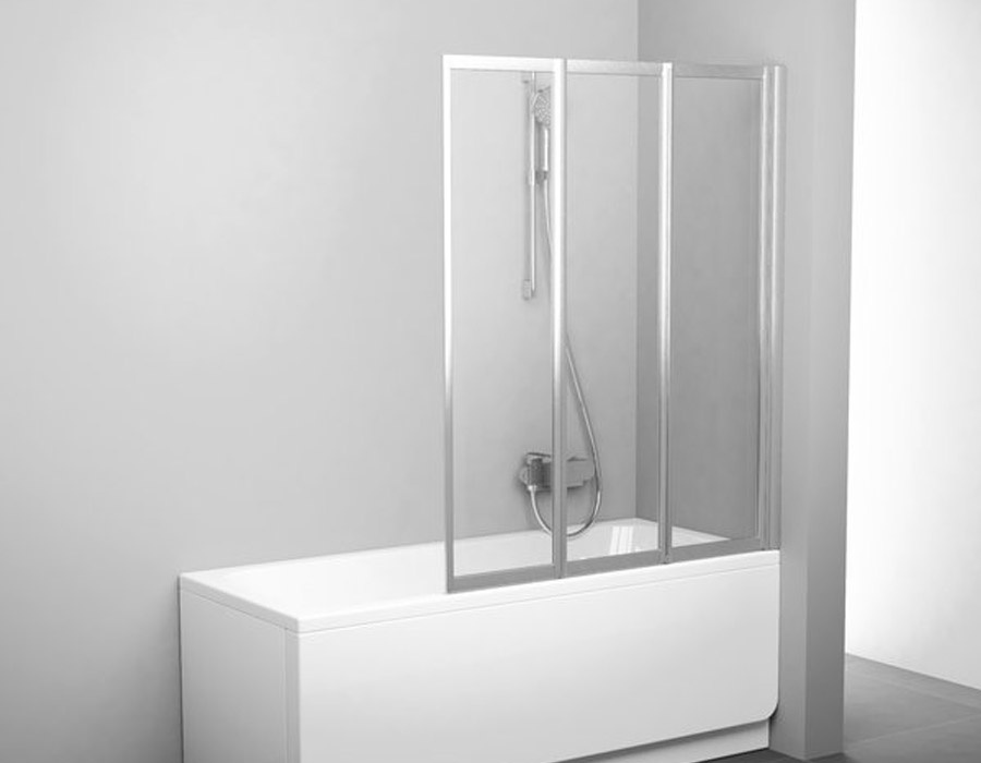 10.Three Part Folding Bathtub Shower Wall, AB 5433