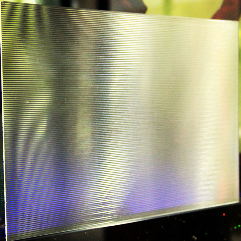 Clear Linear Prismatic Panel