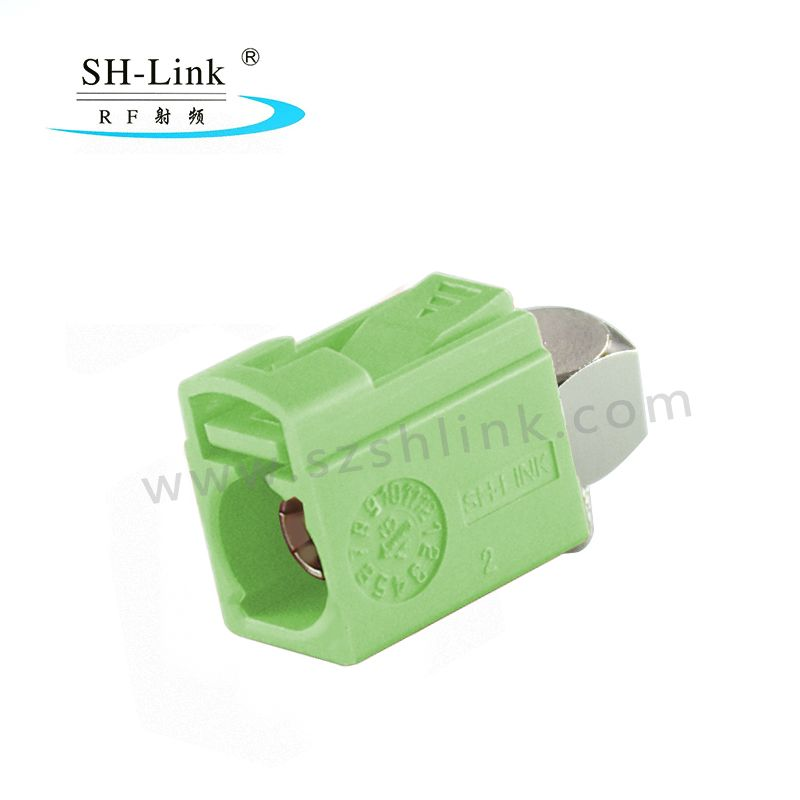 Fakra N Female Right Angle Crimp Solder Connector for RG174 RG316 Cable SHM.900.0003-4.N