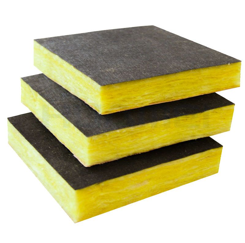 Foil-clad glass wool