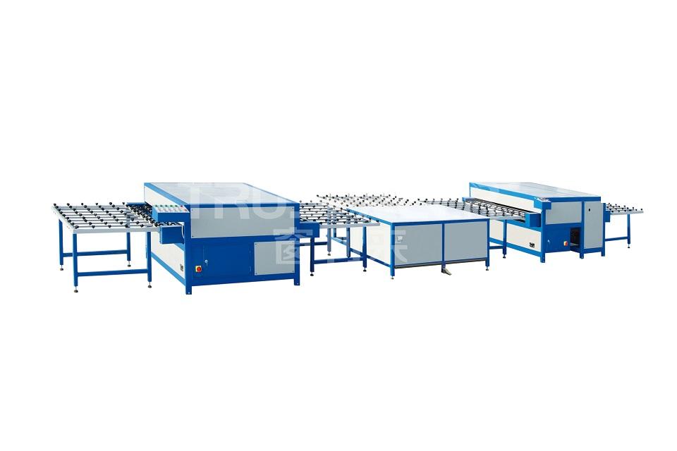 Horizontal insulating glass production line