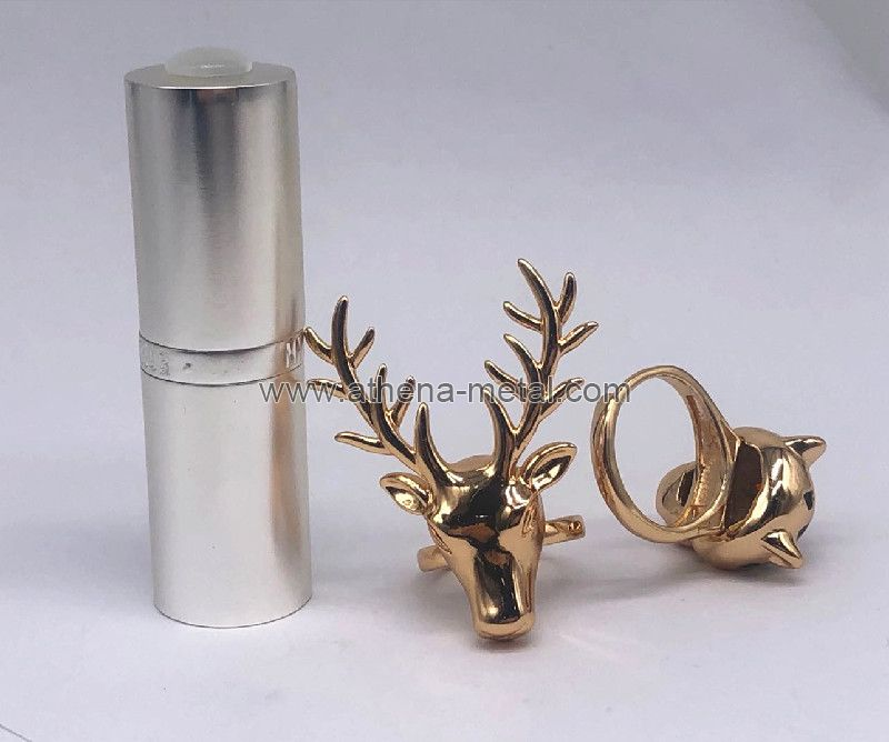 Novelty Lipstick Shell with Jewelry Ring decoration   custom lipstick shell   lipstick shell supplier
