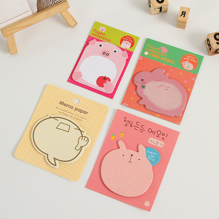 Sticky Notes Memo Pad Sticker-Animals Shape