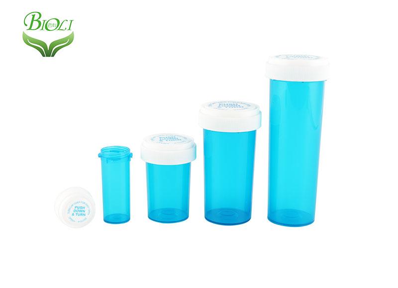 Push down & turn vials,reversible pharmacy vials