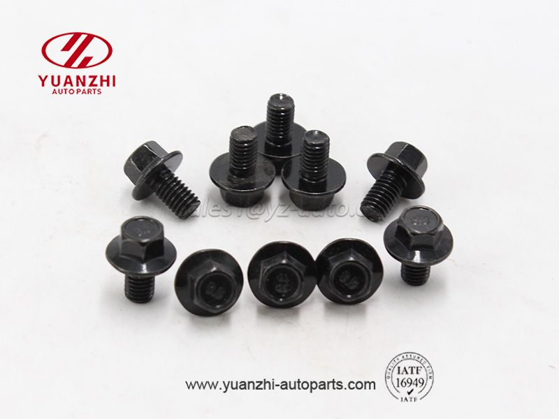 Custom Black Hexagon Flange Bolt Wholesale