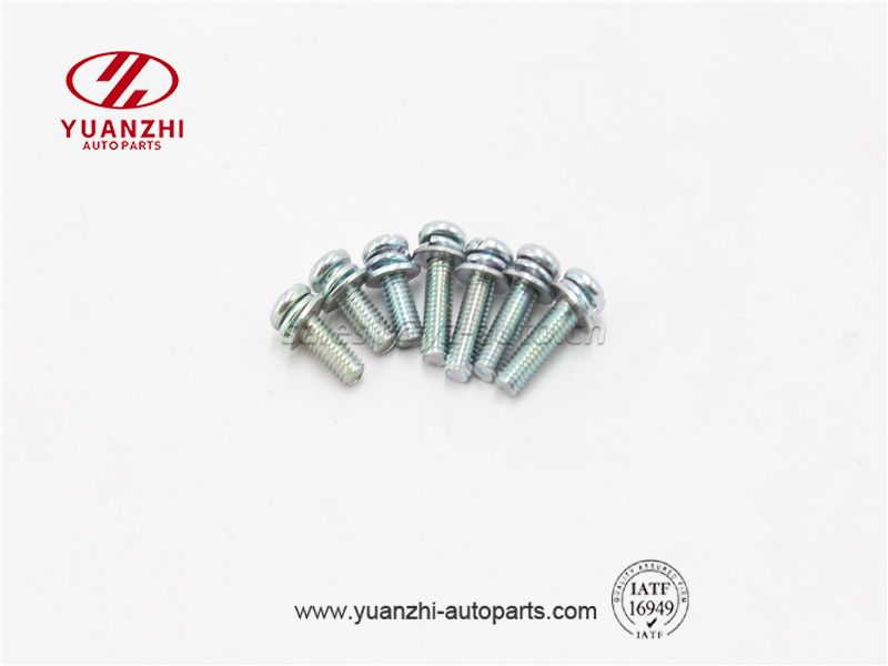Pan Phillips Head Screw Bolt with Flat Washer and Spring Washer Set