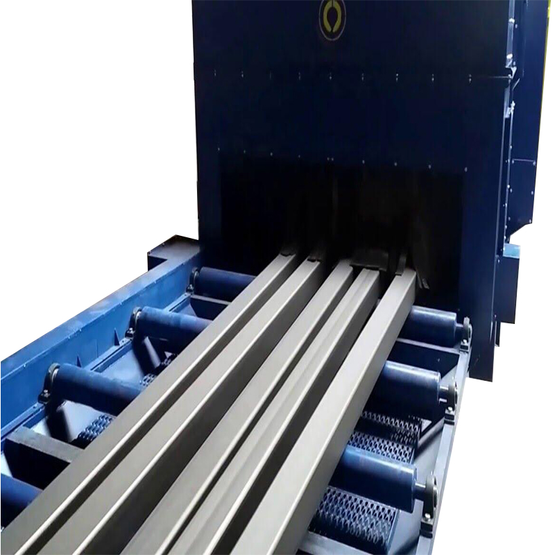 Q69 Steel Plate/sheet roller conveyor shot blast machine