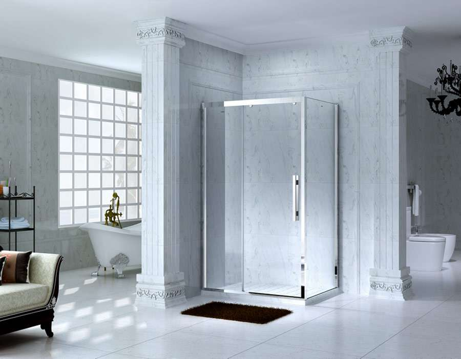 Framed Rectangle Shower Enclosure with Sliding Door, AB 1131