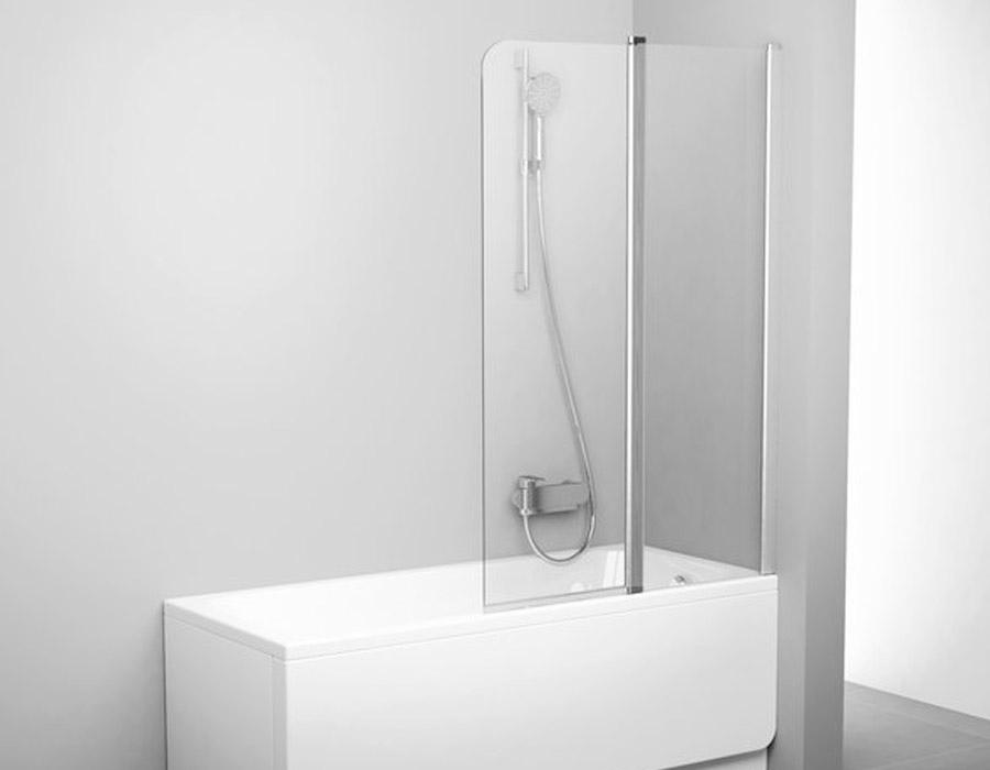 Movable Two Part Bathtub Screen, AB 5372
